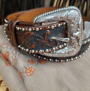 Tony Llama Leather Belt
